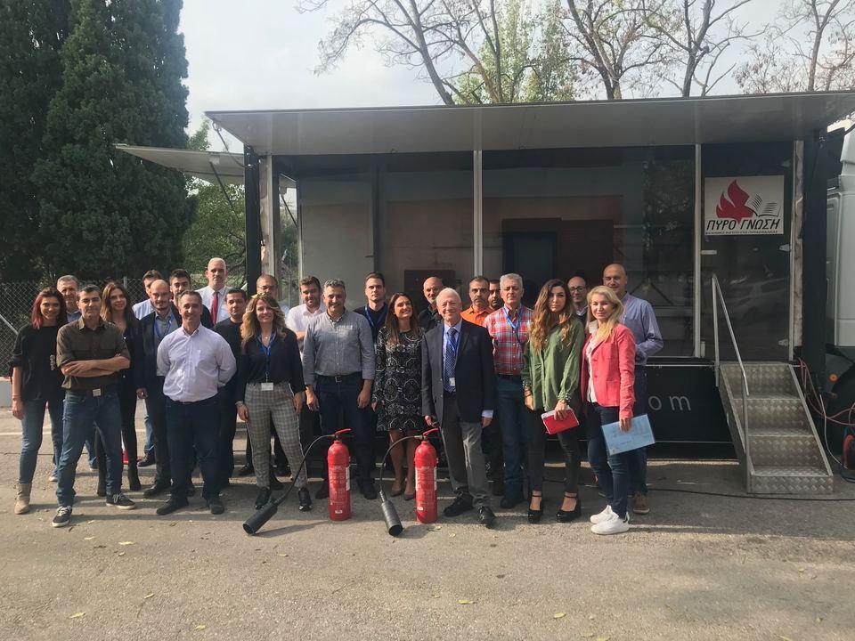 Εκπαίδευση, αντιμετώπισης πυρκαγιάς στα κεντρικά γραφεία της Fraport Greece